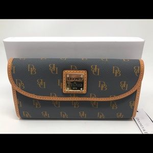 Dooney & Bourke Slate Continental Wallet NEW